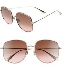 women's dior 58mm gradient square sunglasses -