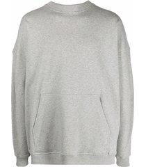 y/project batwing-sleeve drawstring hoodie - grey