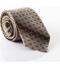 gravata isla galerias jacquard 1200 fios cor cafã© - cafã©/multicolorido - dafiti