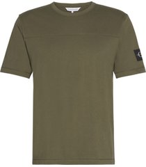 badge t-shirt verde calvin klein