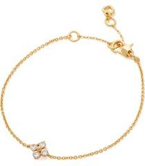 kate spade new york gold-tone crystal forget-me-not link bracelet