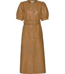 surigz dress knälång klänning brun gestuz