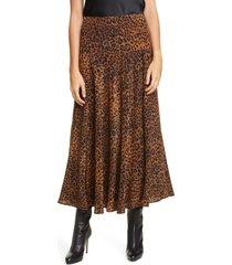 women's lafayette 148 new york elba animal print silk skirt