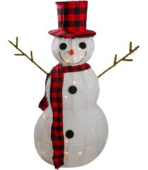 northlight lighted 3d snowman with top hat and twig arms outdoor christmas decoration