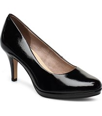 woms court shoe shoes heels pumps classic svart tamaris