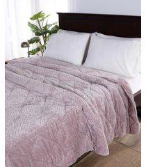 berkshire blanket & home co. large braid velvetloft twin comforter bedding