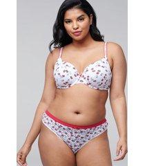 lane bryant women's no-show thong panty 14/16 bright floral