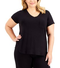 alfani plus size pajama t-shirt, created for macy's