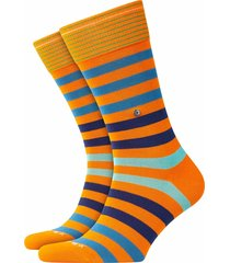 burlington blackpool socks | orange stripe | 21023-8925
