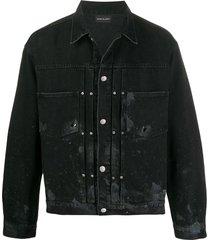 john elliott thumper type ii trucker jacket - black