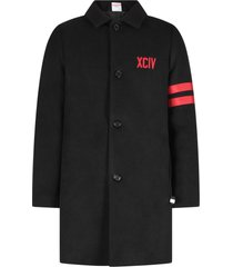 gcds mini black boy coat with logo