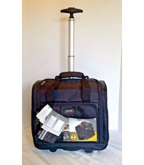 lucas carry-on underseat luggage cabin travel wheeled bag storage pockets