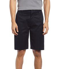 men's nordstrom non-iron stretch cotton shorts, size 34 - black