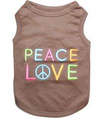 parisian pet peace love dog t-shirt