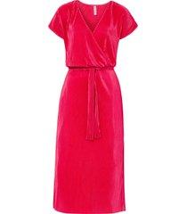 abito plissettato in maglina (rosso) - rainbow