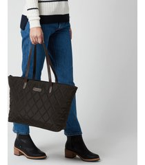 barbour casual women's witford quilted tote bag - navy