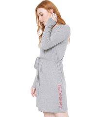 robe calvin klein underwear modern cinza