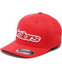 gorra rojo-blanco alpinestars blaze flexfit hat
