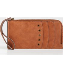 maurices womens cognac grommet wallet brown