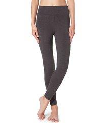 calzedonia cotton leggings woman grey size xl