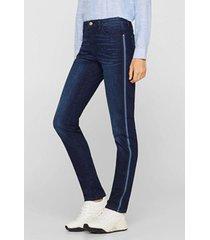 jeans elásticos con rayas de cintas azul esprit