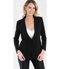 blazer forrado over size negro night concept