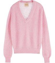 pullover trui fuzzy roze