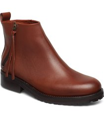 ave zip boot shoes boots ankle boots ankle boots flat heel brun royal republiq