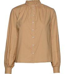 beatrice ls frill shirt blus långärmad beige soft rebels