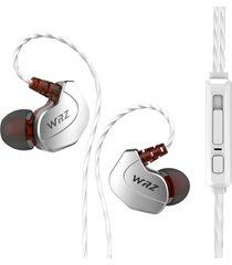 audifonos in ear auriculares de ergonomía con micrófono 3,5mm - plateado