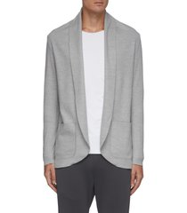 shawl open collar wool cardigan