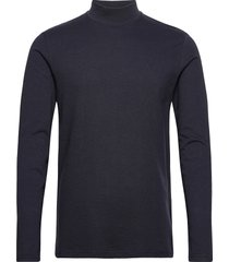 apollo high neck ls t-shirt t-shirts long-sleeved blauw les deux
