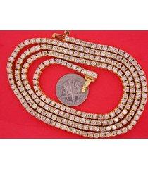 17.50 carat diamond tennis necklace chain 1 row hip hop 10k yellow gold deal