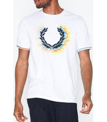 fred perry process col brand t-shirt t-shirts & linnen white