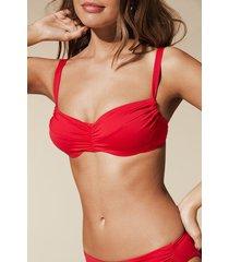 calzedonia indonesia non-padded balconette bikini top woman black size 5c