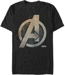 marvel men's avengers infinity war steal avengers logo short sleeve t-shirt