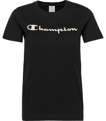 crewneck t-shirt t-shirts & tops short-sleeved svart champion