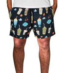 shorts j10 tactel com elastano estampa colorida verão ref.1018. preto