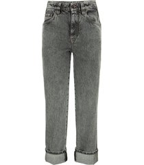 brunello cucinelli authentic denim skater trousers with precious patch