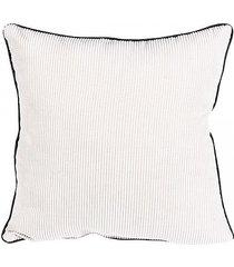 poduszka dekoracyjna sztruksowa kremowa