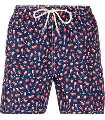 mc2 saint barth berry & champagne swimming trunks - blue