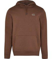 river island mens brown ri slim fit hoodie