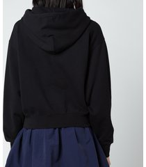 kenzo women's gradient tiger boxy hoodie - black - xs