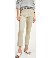 pantalón cotton tencel slim beige tommy hilfiger