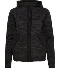 w race stretchknit zip hood hoodie trui zwart sail racing