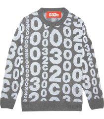 reflective logo knit pullover