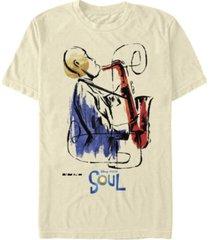 fifth sun men's saxophone painting short sleeve crew t-shirt