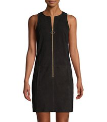 gower suede sheath dress