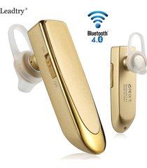 audífonos bluetooth, universal inalámbrica inalámbrica audifonos bluetooth manos libres  4.0 auriculares estéreo ultra largo auricular de negocios en espera para sony iphone samsung (oro)