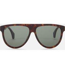 gucci men's square frame tortoiseshelll sunglasses - havana